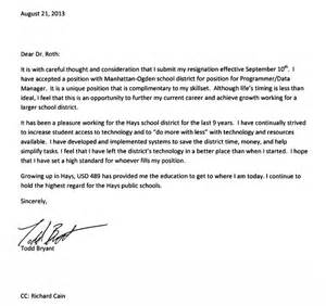 Great Resignation Letter Sle by Resignation Letter Format Great Resignation Letters To Your Professional Letter Of