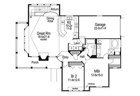 atrium ranch floor plans summerview atrium cottage home plan 007d 0068 house
