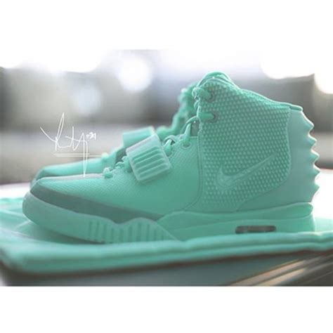 mint green nike sneakers shoes air yeezy 2 mint sneakers sneakers kanye west