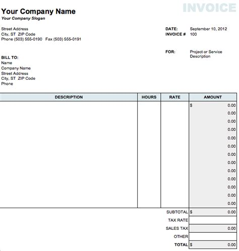 Invoice Template Pages Invoice Exle Mac Pages Templates