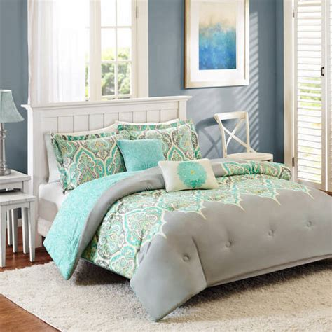 walmart better homes and gardens bedding better homes and gardens kashmir 5 piece bedding comforter