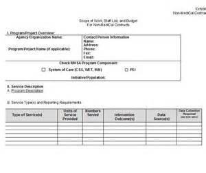 scope of services template 30 ready to use scope of work templates exles free
