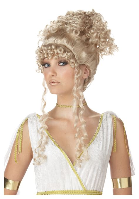 demeter hairstyle athenian goddess wig