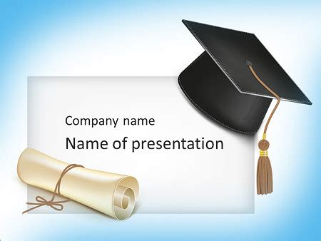 Happy Graduation Powerpoint Template Backgrounds Id Graduation Powerpoint Background