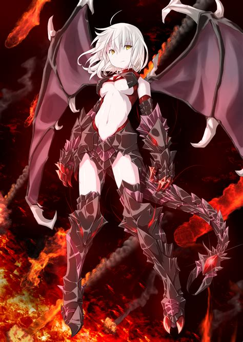 anime demon girl with short hair anime picture original kaho single tall image short hair