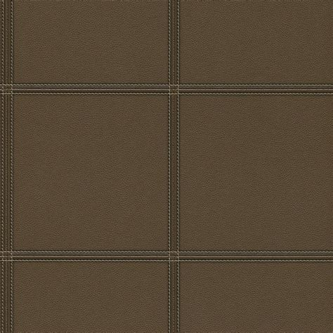 leather walls faux leather tile wallpaper in dark brown by bd wall