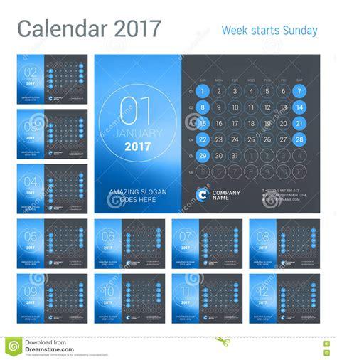 table calendar design vector year 2017 table calendar vector design template vector