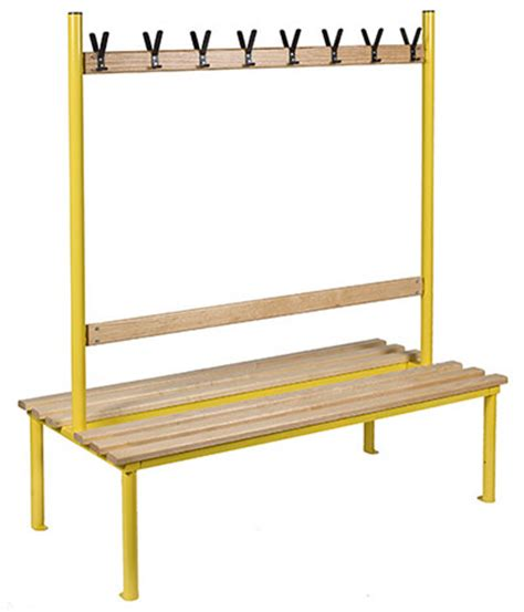 changing room benches with hooks club duo double sided changing room bench benchura