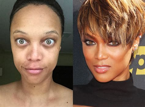 tyra banks from stars without makeup e news