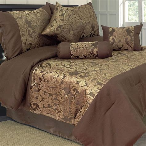 Brown And Gold Comforter lavish home 7 comforter set