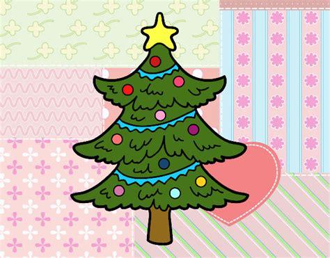 dibujo de pino de navidad pintado por en dibujos net el