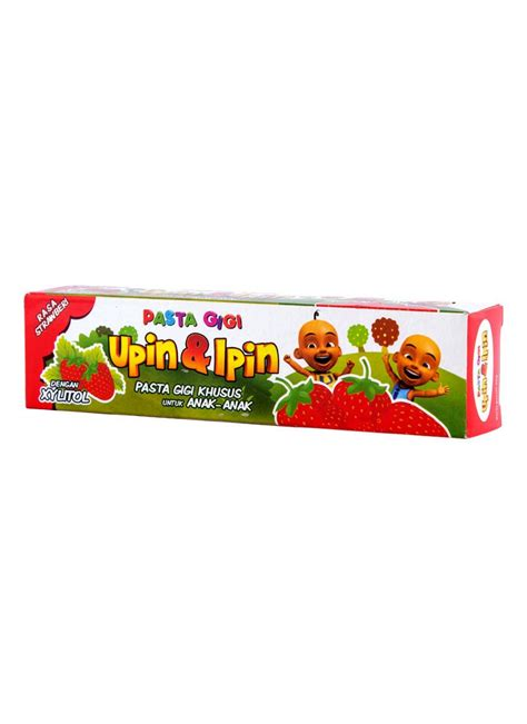 Pasta Gigi Zwitsal upin ipin pasta gigi anak anak strawberry tub 50g