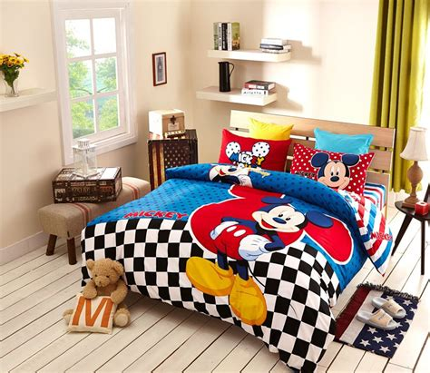 Set Mickey Kid disney mickey mouse bedding set for boys bedroom