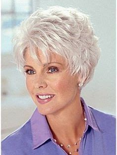 every day over 60 women short haircut pictures gray capless synthetic short hair wig hair styles
