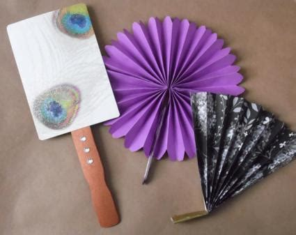 Useful Paper Crafts - paper fan crafts