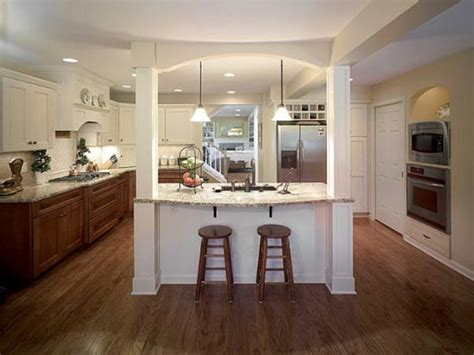 kitchen island with columns load bearing wall dream home remodeling trends march 2014