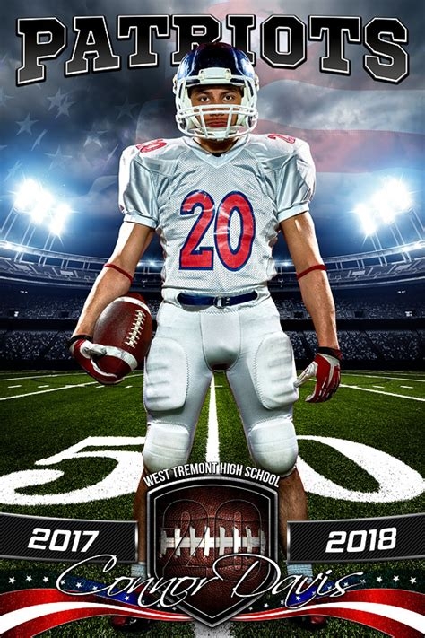 templates photoshop soccer player banner photo template american football