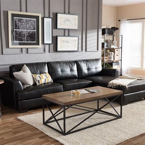 modern living room sofas dobson black leather modern sectional sofa dc living