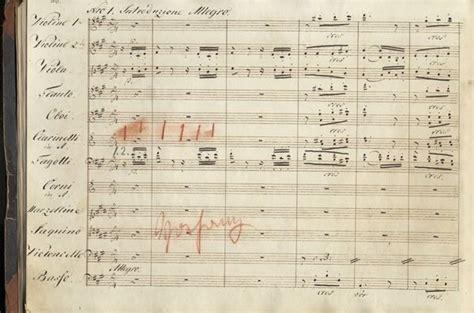 copyists manuscript score  beethovens fidelio