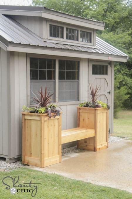 diy planter bench homestead survival