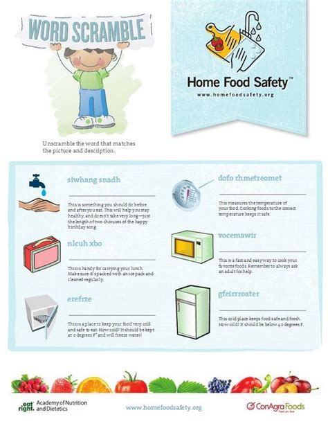 Food Safety Worksheets by The World S Catalog Of Ideas