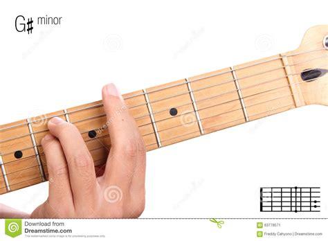 tutorial guitar up g sharp minor guitar chord tutorial stock photo image