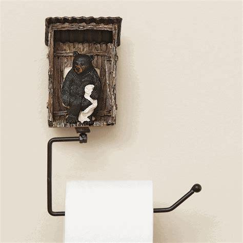 bear toilet paper holder bear outhouse toilet paper holder