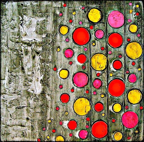 abstract paintings with circles abstract retro circles painting painting by