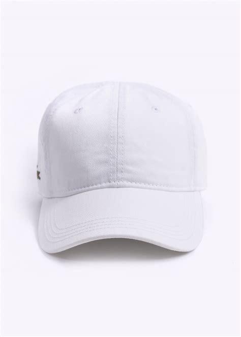 Lacoste Baseball Cap In White lacoste logo baseball cap white