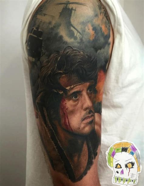 stallone tattoo sylvester stallone rambo best design ideas