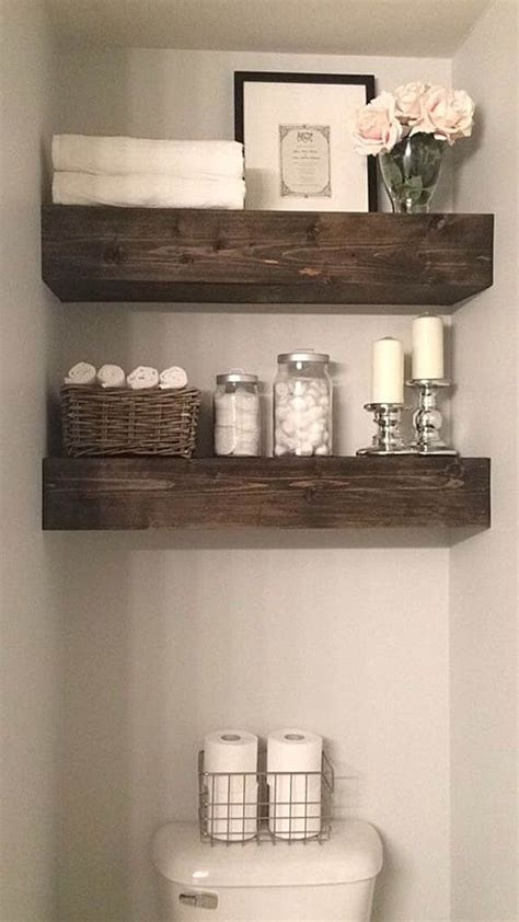 Rustic Bathroom Shelves Best 25 Small Bathroom Shelves Ideas On Pinterest Bathroom Shelves Small Bathroom Storage