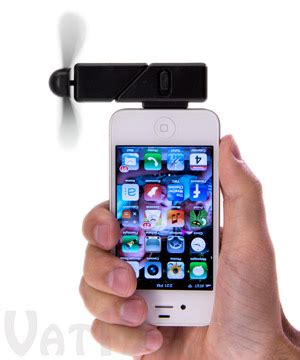 iphone fan in iphone fan attachment turn your iphone or ipod touch into