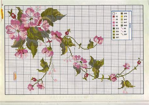 schemi punto croce fiori fiori ricanti rosa magiedifilo it punto croce