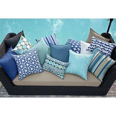 crate and barrel cushions sunbrella 174 mediterranean blue 20 quot sq outdoor pillow