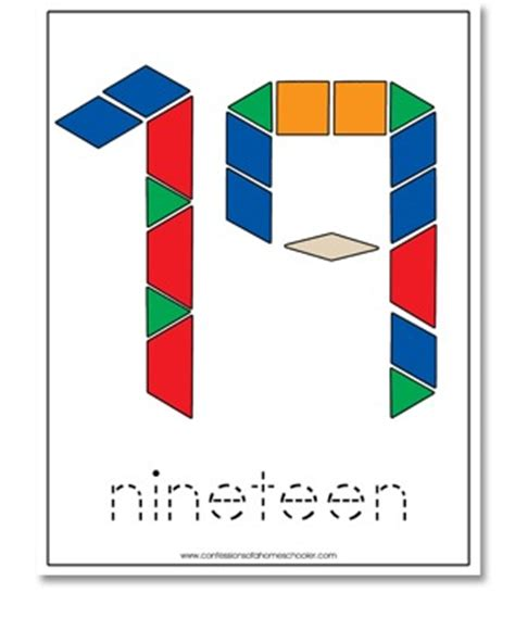 numbers with pattern blocks free 1 20 pattern block cards confessions of a homeschooler