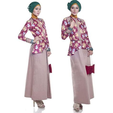 Baju Elegan Simple tren model baju batik muslim wanita terbaru 2016 info tren baju terbaru di indonesia
