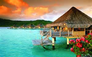 tahiti st regis bora bora french polynesia luxury bungalows wallpapers13
