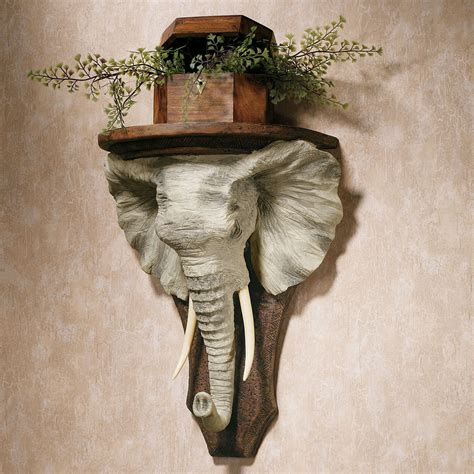 elephant home decor elephant wall shelf