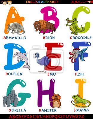 Plakat Po Angielsku by Plakat Animowany Angielski Alfabet Ze Zwierzętami Na