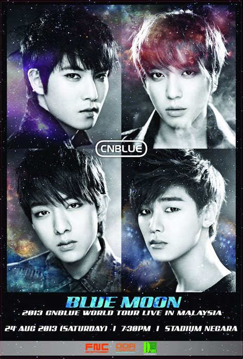 Cnblue Blue Moon Sign Poster msia cnblue blue moon world tour concert in malaysia