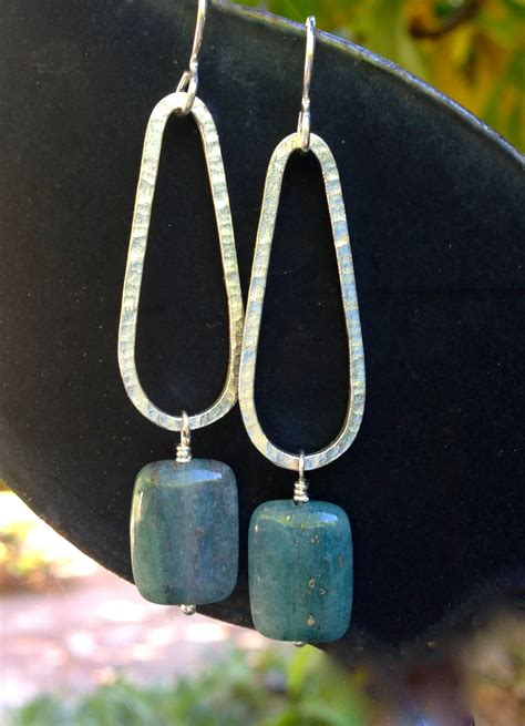 SOLD Apatite and Sterling Silver Earrings, Gemstone Earrings, Sterling Silver, Teardrop Earrings