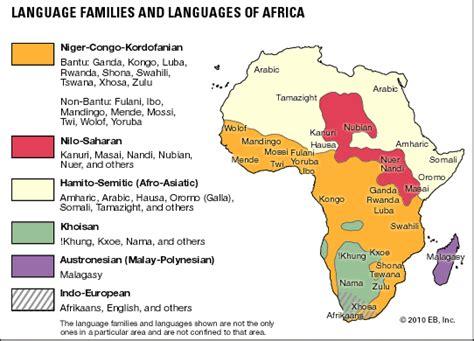 africa map of languages africa languages students britannica