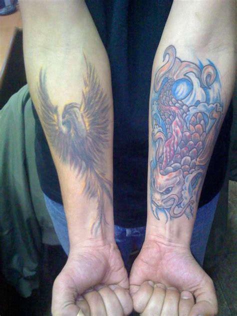 phoenix koi tattoo koi and phoenix tattoo