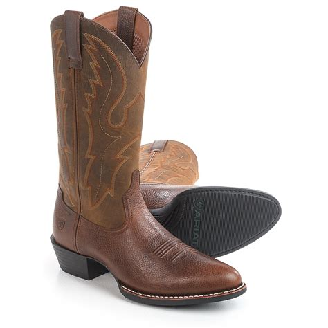 toe boots mens ariat sport r toe cowboy boots for save 33