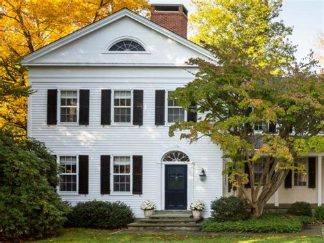 white colonial house photo page hgtv