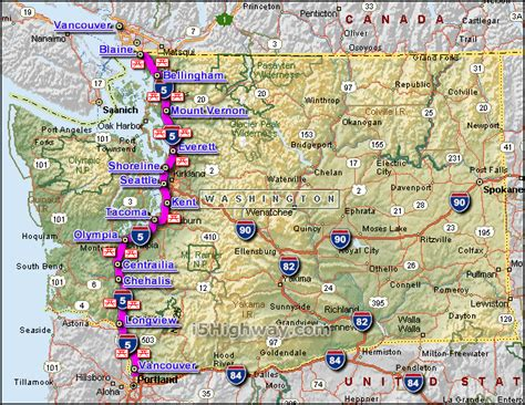 map of interstate 5 through oregon i 5 washington
