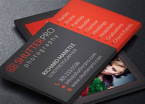 photography visiting card template ticket template photoshop