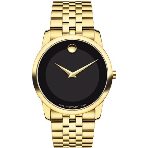 movado s museum yellow gold plated watches