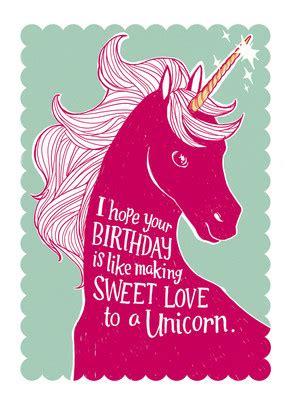 Unicorn Birthday Meme - sweet unicorn love happy birthday card cardstore