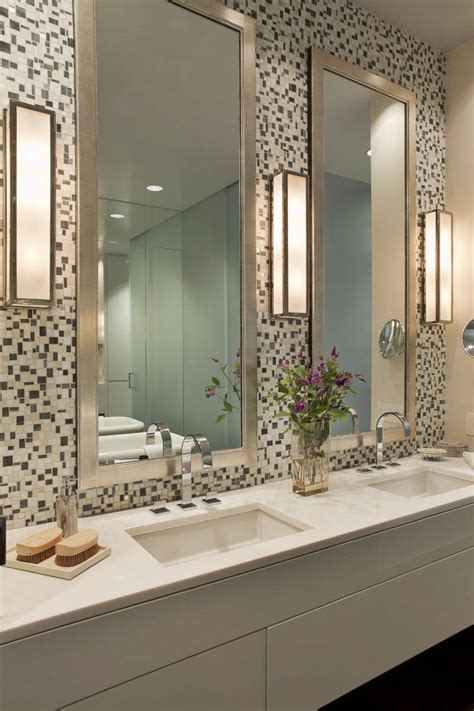 bathroom mirror ideas on wall bathroom bathroom lighting ideas on mosaic tile wall plus